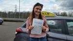Holly Rowley passing driving test