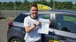 Ivan Oldershaw after first time driving test pass