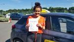 Cloe Bannister passes driving test