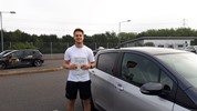 Leon Reece passing driving test