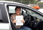 Eve Brown with driving test pass certificate