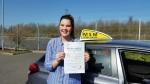 Beth Cowley passes driving test
